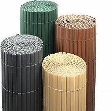 PVC Sichtschutzmatte Farbe & Größe Wählbar Sichtschutzzaun Sichtschutz für Zaun Balkon Windschutz (Höhe 120 cm / Länge 4 m , Bambus)