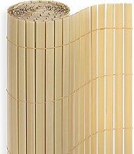 PVC Sichtschutzmatte in der Größe 140 x 400 cm, Farbe: Bambus