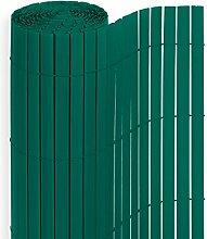 PVC Sichtschutzmatte in der Größe 180 x 400 cm, Farbe: Grün