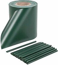 PVC Sichtschutzstreifen Zaunblende Zaunfolie Sichtschutz Windschutz inkl. Klemmen Grün