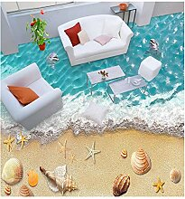 PVC Tapete 3D Wandbild Hd Beach 3D Bodenbelag