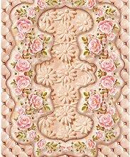 PVC Tapete 3D Wandbild Marmorierte Rosafarbene
