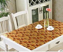 Pvc tischdecke/couchtisch mat tischdecke/weiche tischtuch ohne waschbar/glas-plastik tischtuch/wasserdicht,burn-proof,anti-Öl-tischdecke-D 90x90cm(35x35inch)