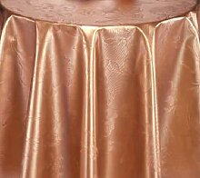 PVC Tischdecke Dahlia Bronze Wachstuch • Eckig