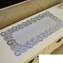 PVC Tischdecke/European-style Pad Stempeln TV Schrank Tischdecke/Wasserdichte Tuch Heiß Kommode-I 40x84cm(16x33inch)