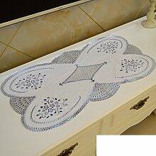 PVC Tischdecke/European-style Pad Stempeln TV Schrank Tischdecke/Wasserdichte Tuch Heiß Kommode-N 40x84cm(16x33inch)
