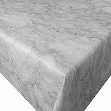 PVC Tischdecke Marmor grau Wachstuch • Eckig •