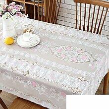 PVC Tischdecke/Rechteckigen Kunststoff,Tischtuch/Wasserdicht,Öl-beweis,Zu Vermeiden, Ein Bügeleisen/-Brett Tischdecken/Erweiterung Tisch Pad-A 90x137cm(35x54inch)