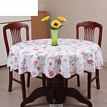 PVC Tischdecke Runde Tischdecke Für Hotels Wasserdicht ?lbest?ndig Wegwaschen Anti-hot Home Plastik Tischdecke Runde Tischdecke-M Durchmesser152cm(60inch)