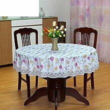 PVC Tischdecke/Runde Tischdecke Für Hotels/Wasserdicht,Ölbeständig,Wegwaschen,Anti-hot,Home Plastik Tischdecke/Runde Tischdecke-S Durchmesser137cm(54inch)