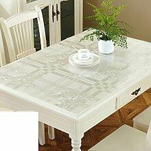 Pvc tischdecke/tischtuch/Öl/wasser beweis tischdecke/transparente tabelle mat/verdickte tischdecke-H 80x135cm(31x53inch)