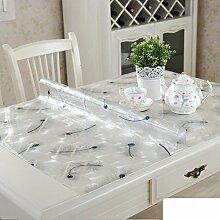 Pvc tischdecke/transparent,weiches glas,kristall-teller,rechteck,wasserdicht],burn-proof,plastik-tischmatten/kostenlose wäsche-tisch-matte/untersetzer-G 90x120cm(35x47inch)