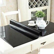 Pvc tischdecke/transparent,weiches glas,kristall-teller,rechteck,wasserdicht],burn-proof,plastik-tischmatten/kostenlose wäsche-tisch-matte/untersetzer-F 60x60cm(24x24inch)