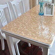 PVC Tischdecke/Wasser Und Öl Beweis Tischdecke/Soft Glas Mattiert Tischdecke-E 90x100cm(35x39inch)