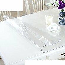 Pvc tischdecke wasserdicht burn-proof weiches glas transparente tischsets frosted kunststoff tischdecken dining schreibtischunterlagen crystal plate mat-D 100x100cm(39x39inch)