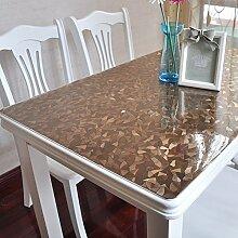 PVC Tischdecke/Wasserdichte Tuch/Glas Kunststoff Tischdecke-F 100x100cm(39x39inch)