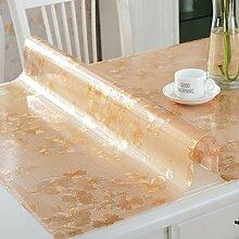 PVC Tischdecke/Wasserdichte Tuch/Glas Kunststoff Tischdecke-M 90x100cm(35x39inch)