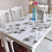 PVC Tischdecke/Wasserdichte Tuch/Glas Kunststoff Tischdecke-C 80x140cm(31x55inch)