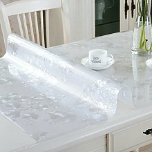 PVC Tischdecke/Wasserdichte Tuch/Glas Kunststoff Tischdecke-N 100x100cm(39x39inch)