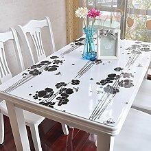 PVC Tischdecke/Wasserdichte Tuch/Glas Kunststoff Tischdecke-D 85x135cm(33x53inch)