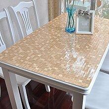 PVC Tischdecke/Wasserdichte Tuch/Glas Kunststoff Tischdecke-E 80x130cm(31x51inch)