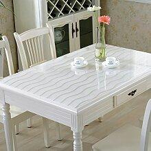 PVC Tischdecke/Wasserdichte Tuch/Glas Kunststoff Tischdecke-G 85x135cm(33x53inch)