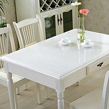 PVC Tischdecke/Wasserdichte Tuch/Glas Kunststoff Tischdecke-L 60x120cm(24x47inch)