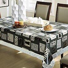 PVC-Tischdecke Wasserdichtes Anti-Öl-Plastik-Abdecktuch,E-137*183CM