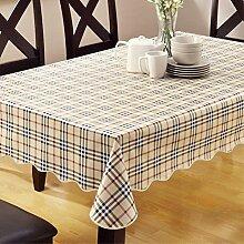 PVC Tischdecke/Wasserfreie Plastik-anti-Öl-tischdecke/Tuch Tischwäsche Tischdecke-E 152x152cm(60x60inch)