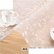 Pvc tischdecke/weiche glasgewebe/plastik-tischmatten/wasserdicht und anti-bügeln crystal plate table mat-D 85x140cm(33x55inch)