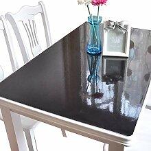 Pvc-Tischdecke Weiches Glas Schwarz Matt