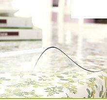 Pvc tischdecke/weichglas,transparent,wasser-untersetzer/kunststoff tischdecken/teetisch matten/tischtuch/ crystal plate mat-A 80x140cm(31x55inch)