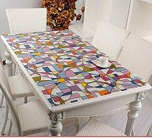 PVC Tischdecke/Weichglas,Wasserdicht,Burn-proof,Tischtuch/Plastiktisch Mat/Einweg-transparente Tischdecke-A 70x130cm(28x51inch)