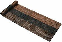 PVC Tischläufer Famibay Braun Bambus Abwaschbar