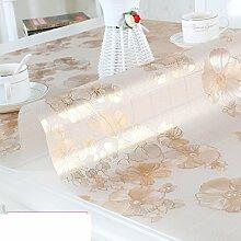 PVC Tischset/Anti-heiß-plastik,Weiche Glas Tischdecke/Wasserdichte Kaffeematte/Europäische Tischdecke/Kristall-teller-E 70x120cm(28x47inch)