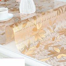 PVC Tischset/Anti-heiß-plastik,Weiche Glas Tischdecke/Wasserdichte Kaffeematte/Europäische Tischdecke/Kristall-teller-C 80x140cm(31x55inch)