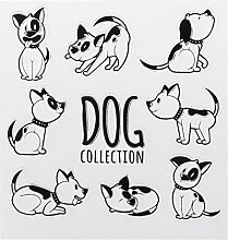 PVC Transparent Stempel Seal Doggy Nette Muster