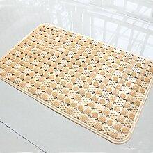 PVC unscented Badematte mit Saugnapf Massage Matte Dusche Badewanne matte Gummi, 50 x 80 cm Orange
