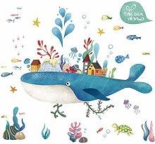 PVC Wandaufkleber Die Unterwasserwelt der Wale DIY