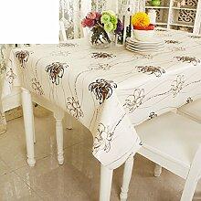 pvc Wasser und Öl Beweis Tischdecke/European-Style Gartentisch/Einweg-Plastik Tischdecke/ Anti-Rutsch-Tischdecke/Tischsets-B 137x180cm(54x71inch)