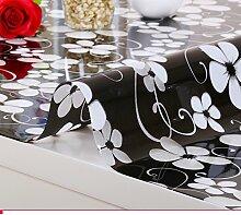 Pvc,wasserdicht,european-style tischdecken/weichglas,transparent,zu vermeiden, ein bügeleisen/-brett tischdecken/tv-schrank,kristall-untersetzer/teetisch matten-C 100x100cm(39x39inch)