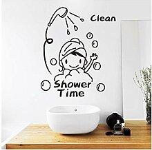 Pvc Wasserdicht Ich Liebe Dusche Wandaufkleber Bad
