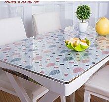 PVC Wasserdicht Öl Tuch/Soft Glas Mattiert Tischdecke/Hitzebeständige Tischdecke-F 70x130cm(28x51inch)