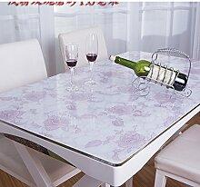 PVC Wasserdicht Öl Tuch/Soft Glas Mattiert Tischdecke/Hitzebeständige Tischdecke-I 70x120cm(28x47inch)