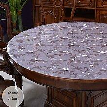 PVC Wasserdicht Runde Tischdecke Transparent