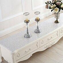 Pvc Wasserdicht Schuh Schrank Tisch Matte,Couchtisch Mat Crystal Plate Europäische Tischtuch-F 50x180cm(20x71inch)
