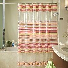 PVC wasserdicht und Mehltau Verdickte Badezimmer Duschvorhänge Getrennte Vorhänge Hängende Vorhänge ( größe : 180*180cm )