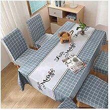 PVC Wasserdichte Tischdecke, Ölbeständige Tisch-