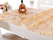 PVC wasserdichte Tischdecke weiche Glas anti - heiße Plastik Tischdecken, Kristall Tischmatten Kaffeematten , #1 , 80*135cm