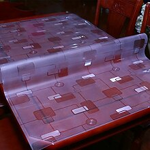 Pvc,wasserdichte tischdecken/burn-proof,Öl-beweis,weichglas,tisch,kunststoff,transparent,kristall-teller,tischtuch/einweg-untersetzer-B 90x160cm(35x63inch)